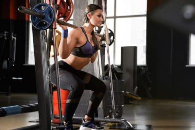 athletic woman exercising her legs