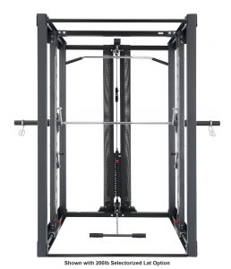 big weight training machine with cable attachment