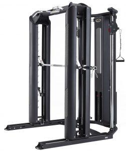 side view of a big strength training machine