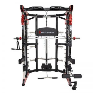 large workout machine with many attachments and workout possibilities