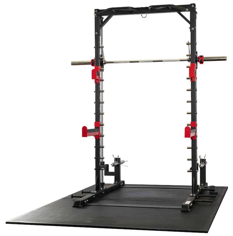 free weight rack and workout machine