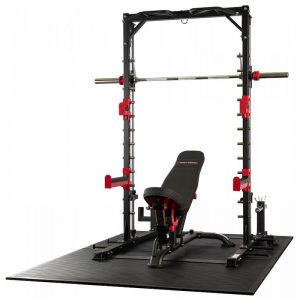 strength training system with a bench and barbell
