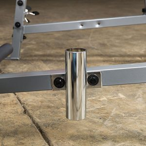 a steel barbell holder
