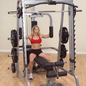 woman doing a pec fly