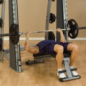 man doing a decline bench press