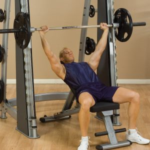 athletic male doing an incline press