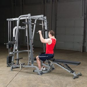 man doing a lat pulldown exercise