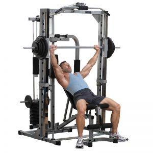 bodybuilder doing an incline press