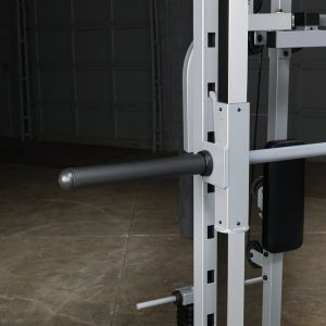 close up of a barbell