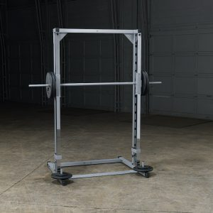 weight training machine with weights on either side
