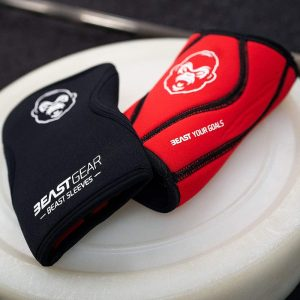 close up of beast gear knee sleeves