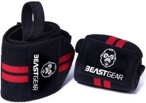 close up of beast gear wrist wraps