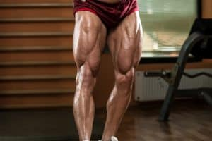 close-up pf a bodybuilder's legs