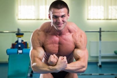 bodybuilder doing the most muscular pose