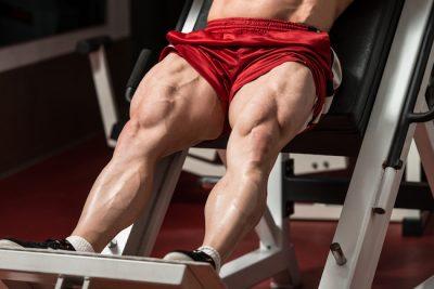 a bodybuilder with massive quads