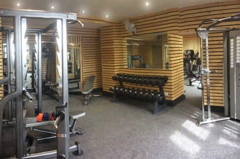 hotel with strength training equipment