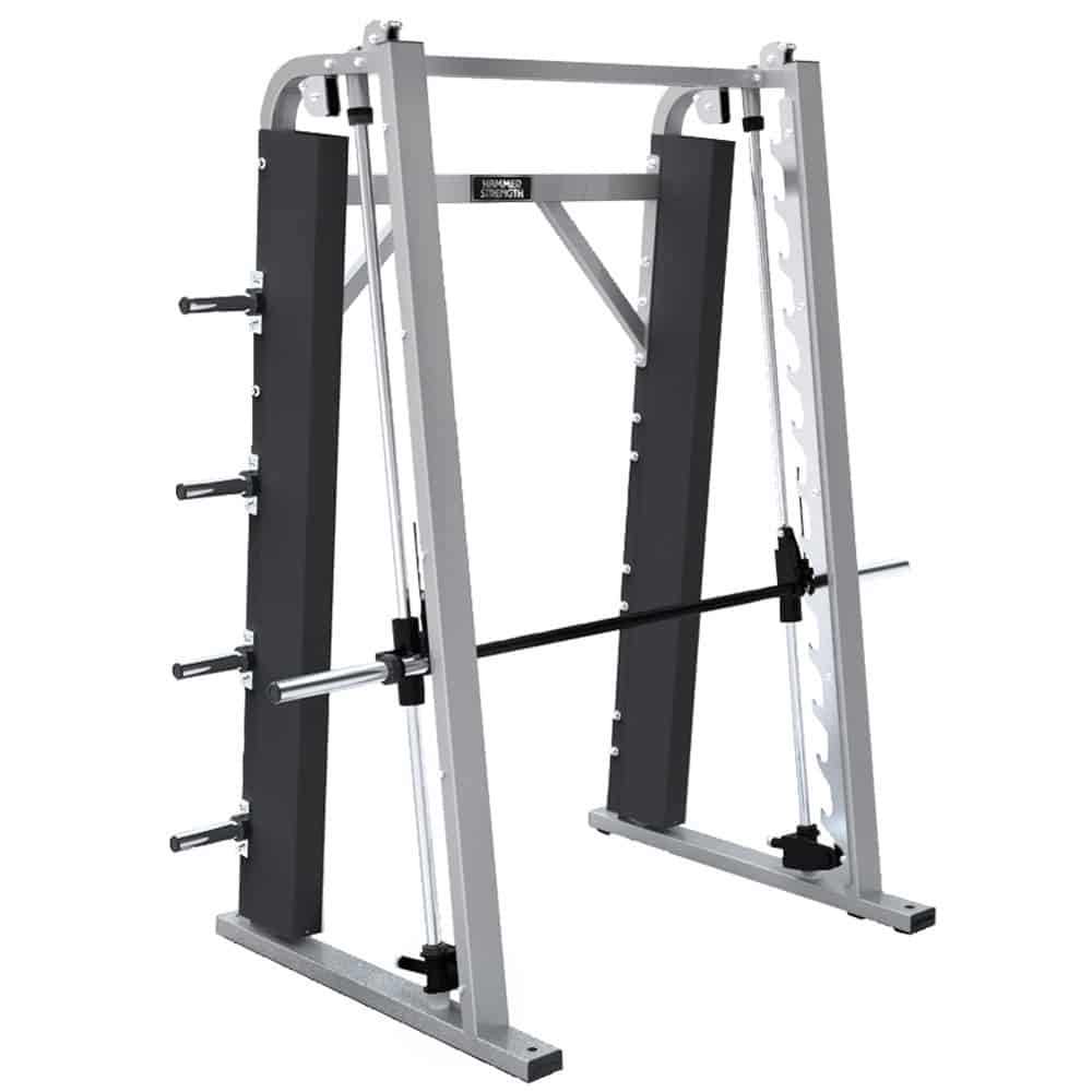 weight training machine with barbell