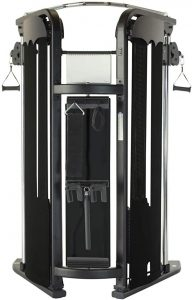 back view of a cable gym machine