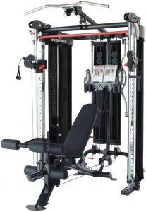 full body workut machine with bench and cable attachments