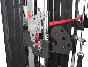 close up of the pulley system
