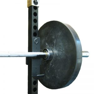 barbell resting in a rack