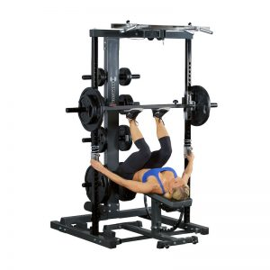 athletic woman doing a leg press