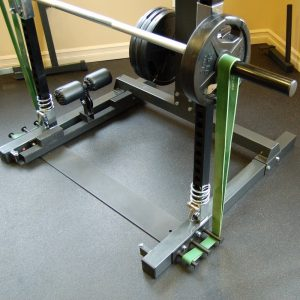 barbell with bands attached to it