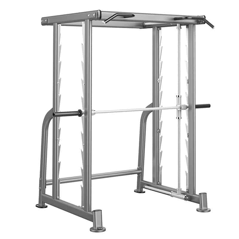 large strength training machine with barbell