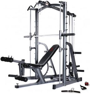 side view of a big strength training machine