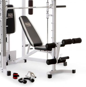 adjustable bench with attachments