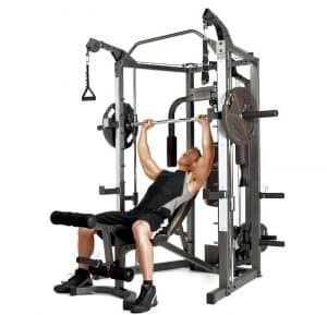 man training his upper chest
