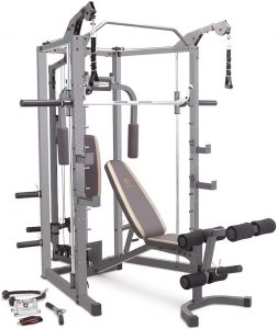 strength training system with extensive accessories and workout stations