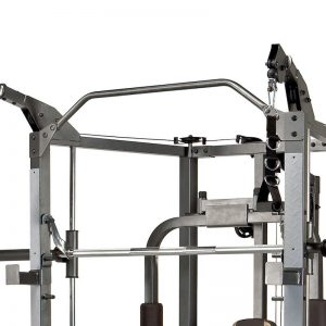 steel pull up bar and high cable pulleys