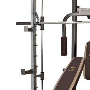squat rack with safety stoppers