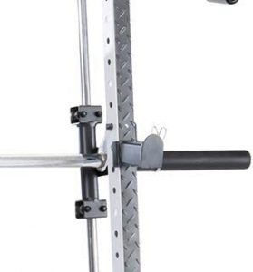 squat rack with barbell catches