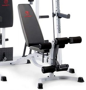 weight bench with leg attachment
