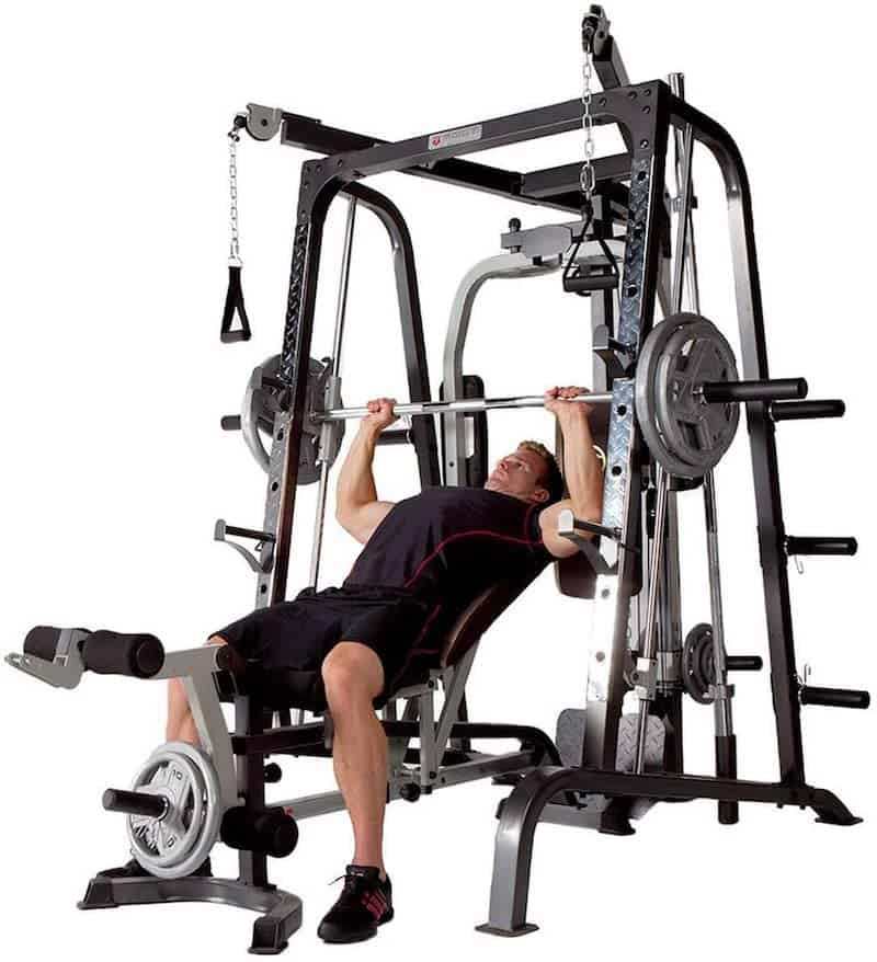 man doing an incline press for his pecs