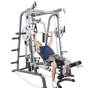 fitness model doing incline presses