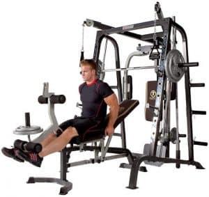 man performing knee extensions