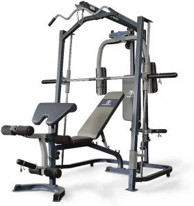 resistance training machine with extensive workout options