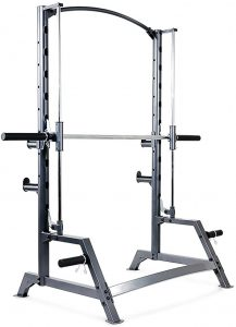 rear view of a compact workout machine
