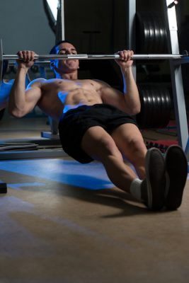man performing a horizontal row