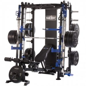 a strength training system with various workout stations