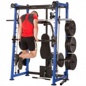 athletic man performing bodyweight dips