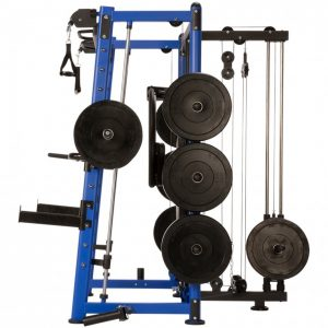 side view of a large resistance training machine