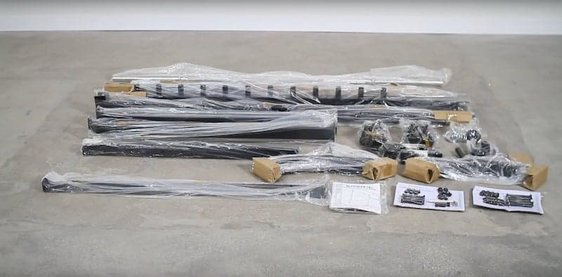 parts needed for the assembly process