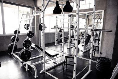 fitness equipment for strength training at a gym