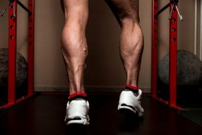man with impressive calf muscles