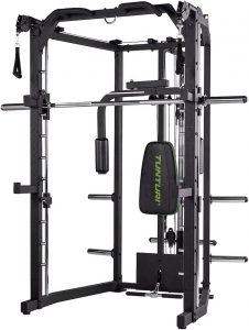 a strength training machine with various workout stations
