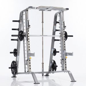 strength training rack system with barbell